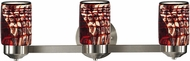 Dale Tiffany AW14239 Windslow Contemporary Brushed Nickel 3-Light Lighting For Bathroom