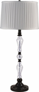 Dale Tiffany GB18318 Theola Ebony Black Buffet Lamp