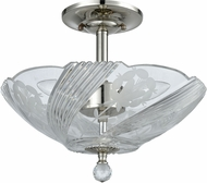 Dale Tiffany GH60717PC Grove Park Contemporary Polished Chrome Ceiling Light Fixture