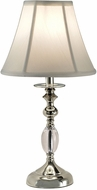 Dale Tiffany GT10170 Leon Polished Nickel Table Lamp Lighting