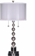 Dale Tiffany GT12097 Optic Orb Satin Nickel Side Table Lamp