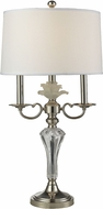Dale Tiffany GT14275 Crystal Lake Polished Nickel Table Light