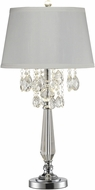 Dale Tiffany GT14317 Static Polished Chrome Lighting Table Lamp