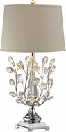 Dale Tiffany GT14325 Crystal Blossom Polished Chrome Side Table Lamp