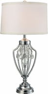 Dale Tiffany GT15310LED Tonya Polished Chrome LED Table Lighting