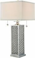 Dale Tiffany GT15316 Katie Lee Polished Chrome Lighting Table Lamp