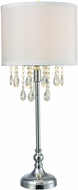Dale Tiffany GT15319LED Heidi Polished Chrome LED Table Lamp Lighting