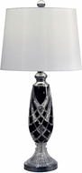 Dale Tiffany GT17082 Black Shield Polished Chrome Lighting Table Lamp