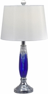 Dale Tiffany GT17089 Blue Glacier Polished Chrome Table Lighting