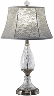 Dale Tiffany GT17131 Wavy Leaf Brushed Nickel Lighting Table Lamp