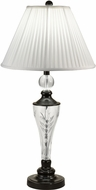 Dale Tiffany GT18317 Gaya Ebony Black Table Top Lamp