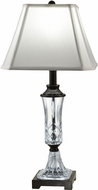 Dale Tiffany GT18329 Alivia Ebony Black Table Lighting
