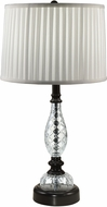 Dale Tiffany GT18331 Acacia Ebony Black Table Lamp Lighting