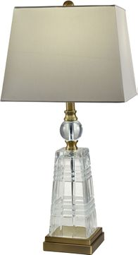 Dale Tiffany GT18332 Aniello Antique Brass Table Top Lamp