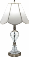 Dale Tiffany GT18333 Aegis Antique Nickel Side Table Lamp