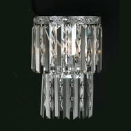 Dale Tiffany GW10733 Allen's Green Polished Chrome Wall Lighting Sconce