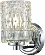 Dale Tiffany GW15324 Juno Polished Chrome Wall Light Sconce