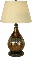 Dale Tiffany PG10354 Mosaic Glass Dome Dark Antique Bronze Lighting Table Lamp