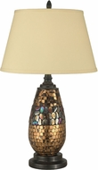 Dale Tiffany PG10362 Antique Gold Mosaic Dark Antique Bronze Table Top Lamp