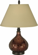 Dale Tiffany PG10618 Copper Mosaic Dark Antique Bronze Table Lamp