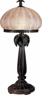 Dale Tiffany PT100522 Musetta Amber Dark Antique Bronze Table Top Lamp