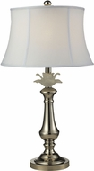 Dale Tiffany PT14329 White Flower Polished Nickel Side Table Lamp