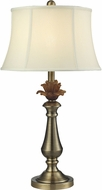 Dale Tiffany PT14330 Amber Flower Antique Brass Table Lamp