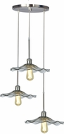 Dale Tiffany SAH16076 Almond Modern Satin Nickel Multi Hanging Pendant Lighting