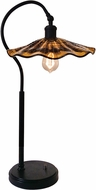 Dale Tiffany SAT15107 Burnt Sienna Modern Copper Bronze Table Light