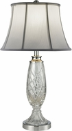 Dale Tiffany SGT16151 Claven Polished Chrome Table Lighting
