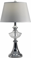 Dale Tiffany SGT17034 Avery Polished Chrome Table Top Lamp