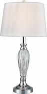 Dale Tiffany SGT17066 Vella Polished Chrome Table Lamp
