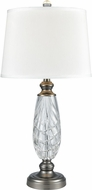 Dale Tiffany SGT17161 Clearview Antique Nickel Table Top Lamp