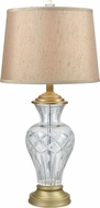 Dale Tiffany SGT17162 Ridgewood Golden Antique Brass Side Table Lamp