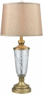 Dale Tiffany SGT17167 Cathedral Golden Antique Brass Lighting Table Lamp