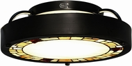 Dale Tiffany STH15087LED Quentin Tiffany Tiffany Bronze LED Ceiling Light Fixture