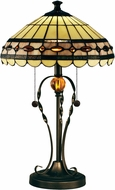 Dale Tiffany STT15103 Bert Tiffany Tiffany Bronze Table Top Lamp