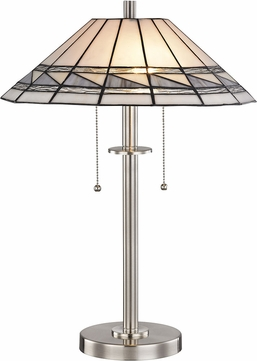 Dale Tiffany STT17019 Sasha Tiffany Brushed Nickel Table Light