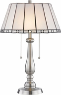 Dale Tiffany STT17025 Adrianna Tiffany Brushed Nickel Lighting Table Lamp