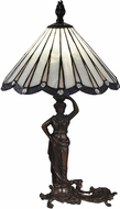 Dale Tiffany STT17057 Akira Lady Tiffany Antique Bronze Table Top Lamp