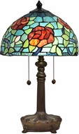 Dale Tiffany STT18146 Crimson Rose Tiffany Antique Bronze Table Lighting