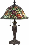 Dale Tiffany STT18147 Rose Collage Tiffany Fieldstone Lighting Table Lamp