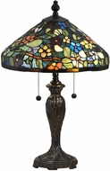 Dale Tiffany STT18148 Southern Floral Tiffany Fieldstone Table Lamp Lighting