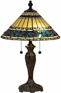 Dale Tiffany STT18149 Azusa Lily Tiffany Fieldstone Table Top Lamp