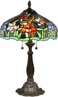 Dale Tiffany STT18184 Dragonfly Waterlily Tiffany Antique Bronze Side Table Lamp