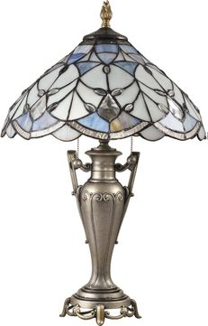 Dale Tiffany STT18235 Peyton Tiffany Antique Golden Silver Table Lighting