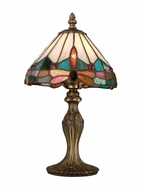 Dale Tiffany TA10606 Jewel Dragonfly Tiffany Antique Brass Table Lamp