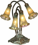 Dale Tiffany TA15132 Gold Lily Antique Bronze/Verde Accent Lamp