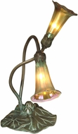 Dale Tiffany TA15134 Gold Lily Antique Bronze/Verde Accent Lighting