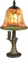 Dale Tiffany TA15149 Hand Painted With Owl Antique Brass Accent Light Fixture